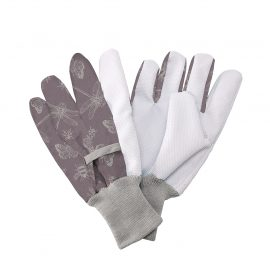Purple Flutter Bugs Cotton Gloves