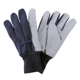 Navy Jersey Cotton Gloves