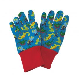 Blue Dinosaur Kids Gardening Gloves