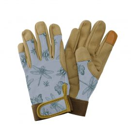 Blue Flutter Bugs Comfort Gloves