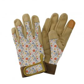 Cream Meadow Flowers Comfort Gloves