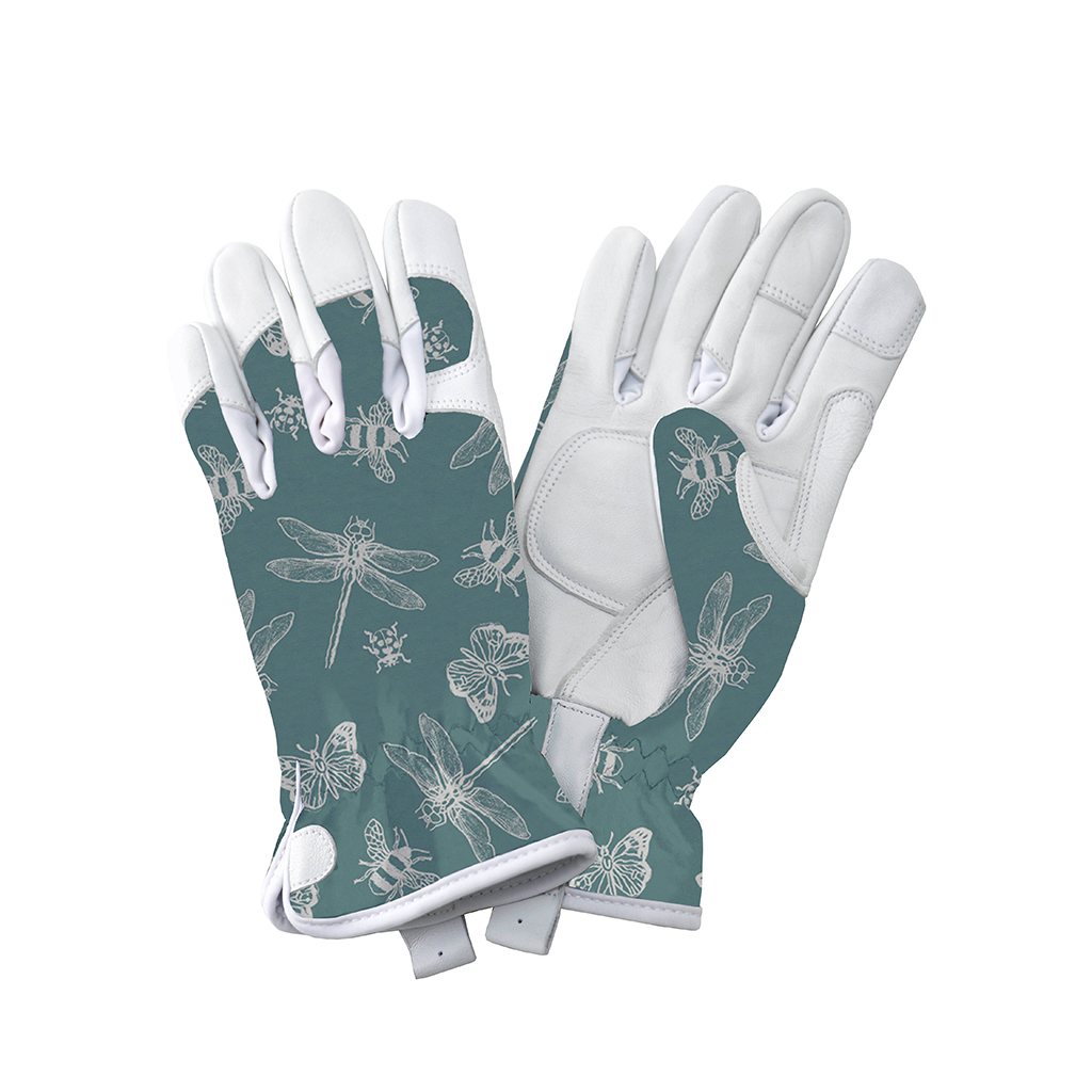 Teal Premium Leather Gloves