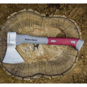 kent & stowe hand forged axe in use