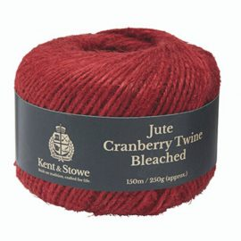 Jute Twine Bleached Cranberry