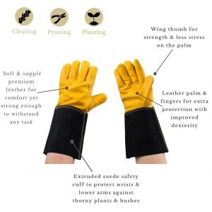 Luxury Leather Gauntlet Gloves Mens