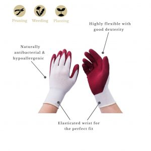rumba red bamboo gloves features