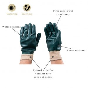 Water Resistant Super Grip Gloves features