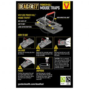deadfast powerkill mouse trap back of pack