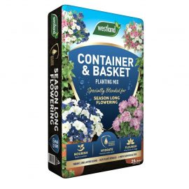 container and basket planting mix in pack