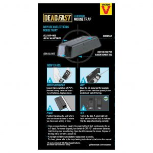 deadfast electronic mouse trap back of pack