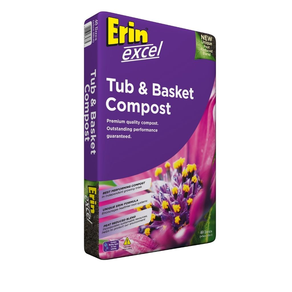 erin excel tub and basket compost 50 litres