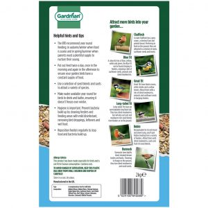 Gardman No Grow Seed Mix Back of Pack