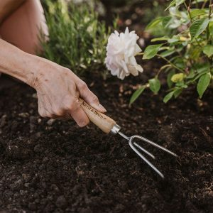 Garden Life Stainless Steel Hand 3 Prong Cultivator